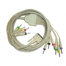 10Lead ECG Cable Compatible with BPL 6108-T(MOULED)Banana Type