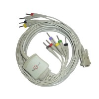 10Lead ECG Cable Compatible with Schiller 4mm 15pin Open Type(dust cover)