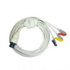 3 Lead ECG Cable Compatible with Spacelab 6 pin Clip type