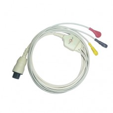 3 Lead ECG Cable Compatible with Mindray 6 pin Snap type