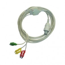 3 Lead ECG Cable Compatible with Bionet 8 Pin Clip Type