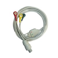 3 Lead ECG Cable Compatible with Bionet 8 Pin Snap type