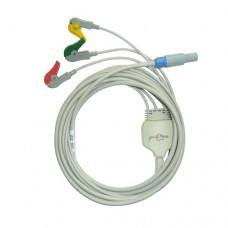 3 Lead ECG Cable Compatible with Bpl 4 Pin Redel Clip type