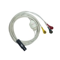 3 Lead ECG Cable Compatible with BPL Aganta /Endura 7pin snap type