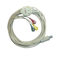 3 Lead ECG Cable Compatible with BPL PM9000 6 Pin Redel Snap type