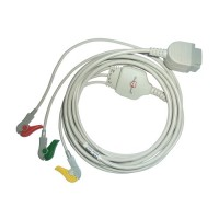 3 Lead ECG Cable Compatible with GE-11 PIN Clip type