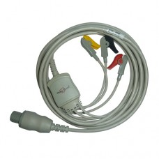 3 Lead ECG Cable Compatible with GE Cardio serve Defib 7pin Clip type