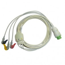3 Lead ECG Cable Compatible with L&T  12 Pin Clip type