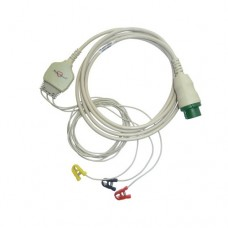 3 Lead ECG Cable Compatible with L&T  12 Pin Mini pinch type
