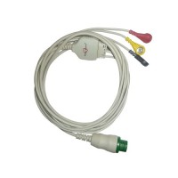 3 Lead ECG Cable Compatible with L&T  12 Pin Snap type