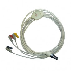 3 Lead ECG Cable Compatible with L&T  7 Pin Clip type