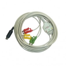 3 Lead ECG Cable Compatible with Mek  7 Pin S-Video Clip type