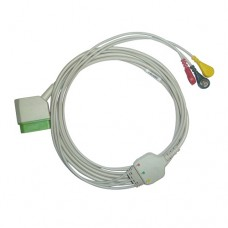 3 Lead ECG Cable Compatible with Nihonkhoden 12 Pin Snap type