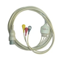 3 Lead ECG Cable Compatible with HP 8 Pin Snap type