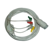 3 Lead ECG Cable Compatible with Physiocontrol LP20 12 Pin Clip type