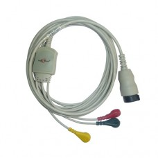 3 Lead ECG Cable Compatible with Physio control LP20 12 Pin Snap type