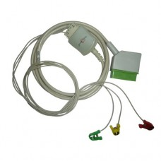 3 Lead ECG Cable Compatible with Nihonkhoden 12 Pin Minipinch type
