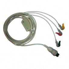 3 Lead ECG Cable Compatible with Siliconlab 6 pin Clip type