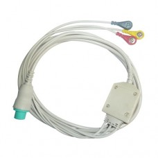 3 Lead ECG Cable Compatible with Siliconlab 6 Pin Snap type