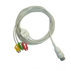3 Lead ECG Cable Compatible with Spacelab  17 Pin Clip type