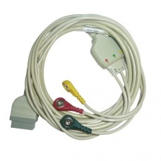 3 Lead ECG Cable Compatible with GE-11 PIN snap type