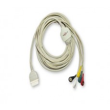 5 Lead ECG Cable Compatible with GE  11 Pin Snap type