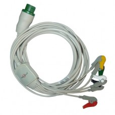 5 Lead ECG Cable Compatible with L&T  12 Pin Clip type
