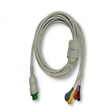 5 Lead ECG Cable Compatible with L&T 12 Pin Snap type