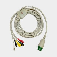 5Lead ECG Cable Compatible with Schiller Truscope Mini 12Pin Snap type