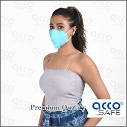 Acco Safe  N95 Mask (pack of 5) colour - blue ,with meltblown layer