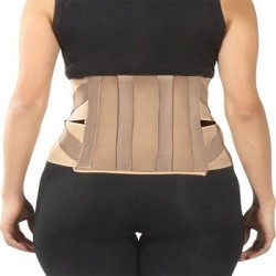 Turion Contoured Lumber Sacral Belt Lower Back Pain, Fracture Injuries & Double Elastic Lock