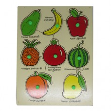 "Wooden Fruit Tray (Size: 9""x 12"")"