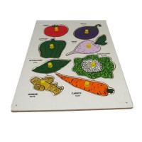 "Wooden Vegetable Tray (Size: 9""x 12"")"