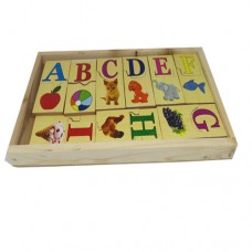 Capital Alphabet with Picture Matching box puzzle