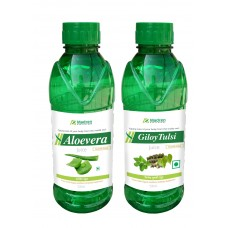 Madren Healthcare Aloevera & Giloy Tulsi Juice 500ml. (Combo Pack)