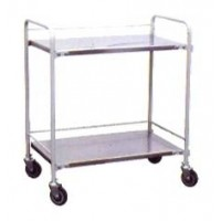INSTRUMENT Trolley (2shelves) SS Frame and SS Shelves