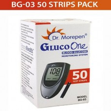 Dr. Morepen 50 SUGAR Test Strips for BG-03 Glucometer (Strips Only Pack)