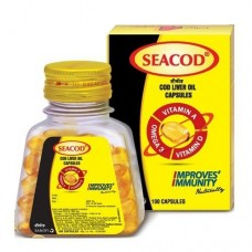 SeaCod cod Liver Oil 220 capsules Pack of 2 (110 capsules)