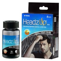 Headz Up Hairfall Therapy For Men - Pack Of 3 ( 3X30 Tabs.)