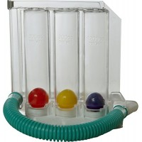Infi Infi0009 3 Balls Spirometer Respiratory Lung Exerciser (Multi-Colour)