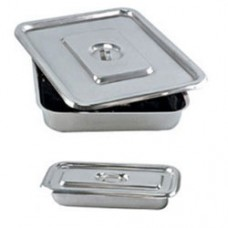 "Apex Stainless Steel Instrument Tray With Lid 11"" X 7"" (Set Of 2 Pcs)"