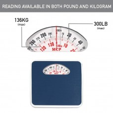 Mcp Deluxe Personal Analogue Mechanical 136 Kg Weighing Scale with Anti-slip Surface (Blue)