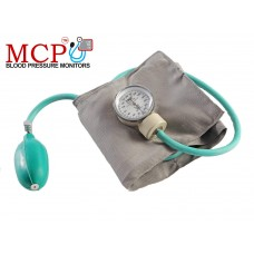 MCP Aneroid Blood Pressure Monitor Sphygmomanometer Green with Dual Head Stethoscope