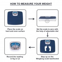 MCP Deluxe Personal Manual Analog Weighing Scale upto 130 kgs capacity