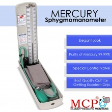 MCP Mercury Blood Pressure Monitor Sphygmomanometer Deluxe with Stethoscope