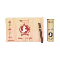 Royal Swag Herbal Cigarette CLOVE 100% Nicotine & Tobacco Free Cigarettes - Pack Of 10 (50Sticks)