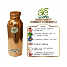 AE NATURALS Premium Quality Jointless Pure Virgin Copper Water Bottle Leak Proof