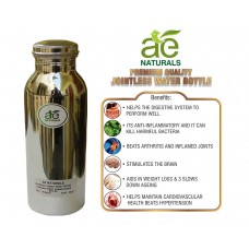 AE NATURALS Premium Quality Stainless Steel Chrome Coated Copper Water Bottle Leak Proof