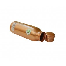 AE NATURALS Premium Quality Jointless Copper Water Bottle With LEQUORE Coated & Leak Proof 700ml