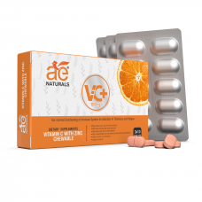 AE Naturals Vitamin C With Zinc 1000mg Chewable Tablets